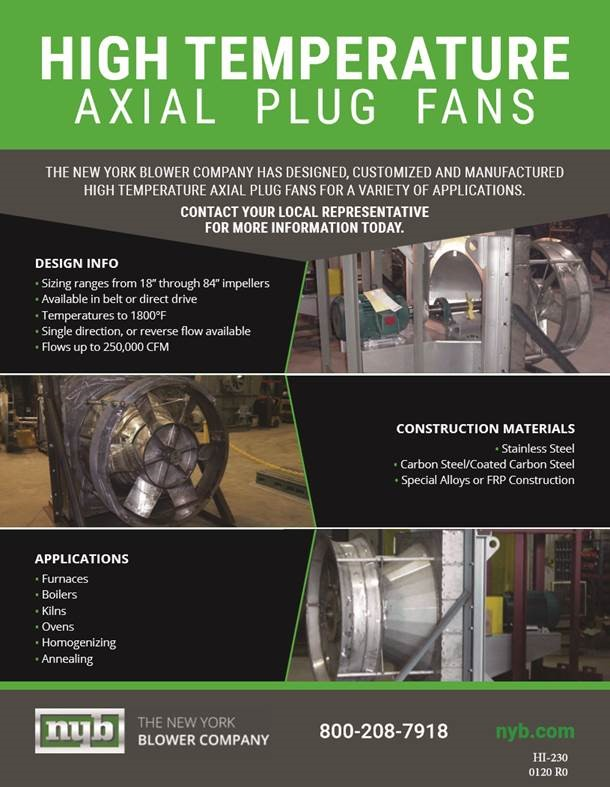 High Temperature Axial Plug Fans